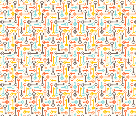 Skeleton Keys: Mini Multicolor fabric by nadiahassan on Spoonflower - custom fabric