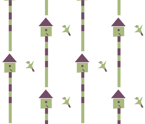 Geo Bird fabric by heartfullofbirds on Spoonflower - custom fabric