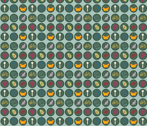 Scout's Honor: Girl's Edition fabric by alysnpunderland on Spoonflower - custom fabric