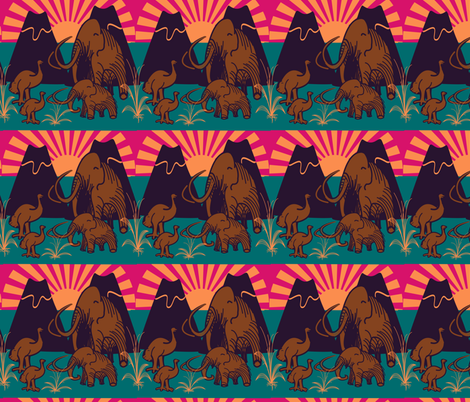 marzlene_Extinct animals fabric by marzlene'z_eye_candy on Spoonflower - custom fabric