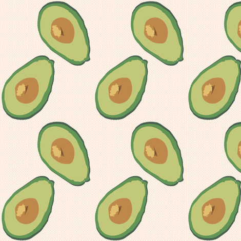 You say avocado, I say avocado. fabric by alysnpunderland on Spoonflower - custom fabric