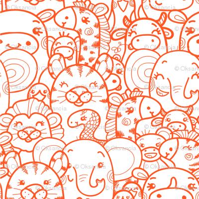 Wild Animals - Orange