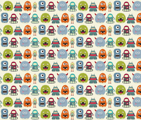 monstersandrobots fabric by sterikal on Spoonflower - custom fabric