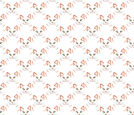 Cat_s_head fabric by alfabesi on Spoonflower - custom fabric