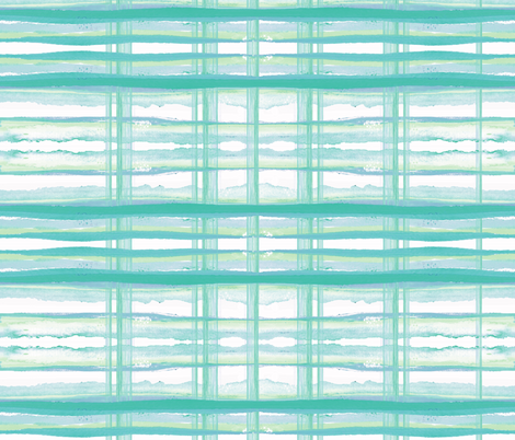 Sea Breeze Plaid fabric by sara_berrenson on Spoonflower - custom fabric