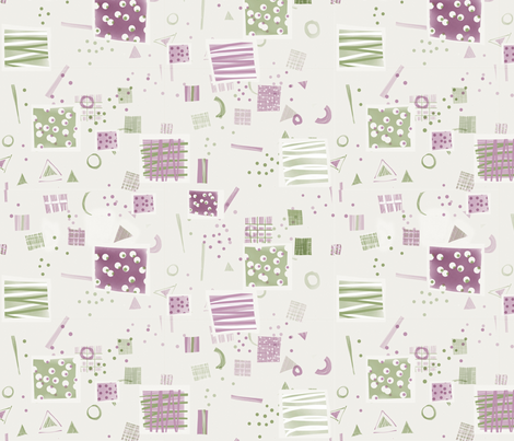 Soft Geometry fabric by snuss on Spoonflower - custom fabric