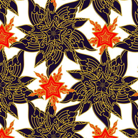 Patriotic Super Stars fabric by periwinklepaisley on Spoonflower - custom fabric