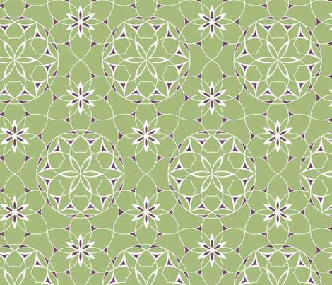 Lacey web of flowers fabric by andrea11 on Spoonflower - custom fabric