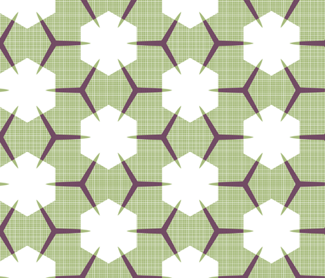 Yukibishi (Maroon, Green & White) fabric by nekineko on Spoonflower - custom fabric