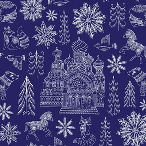 New Dr.Zhivago Russian Winter Toile