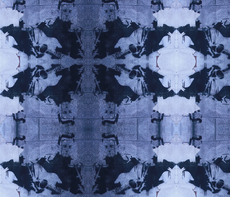Kaleidoscope Johnny Cash fabric by luckygirl_eleven on Spoonflower - custom fabric