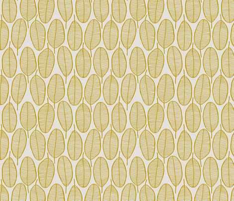 JANI_MUSTARD fabric by glorydaze on Spoonflower - custom fabric