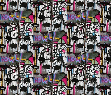 Howl Sheep Graffiti fabric by luckygirl_eleven on Spoonflower - custom fabric