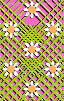 Geo Flowers Pink