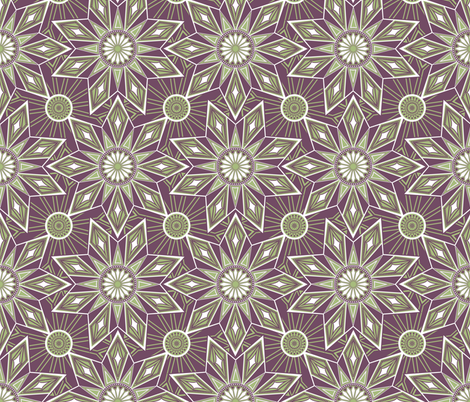 Geometric Starburst fabric by kezia on Spoonflower - custom fabric
