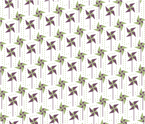 Pine & Plum Pinwheel fabric by ellenevered on Spoonflower - custom fabric