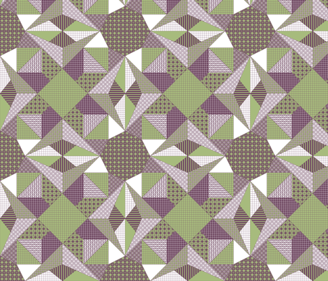 Lamplight in the Dark - Quilt fabric by rhondadesigns on Spoonflower - custom fabric