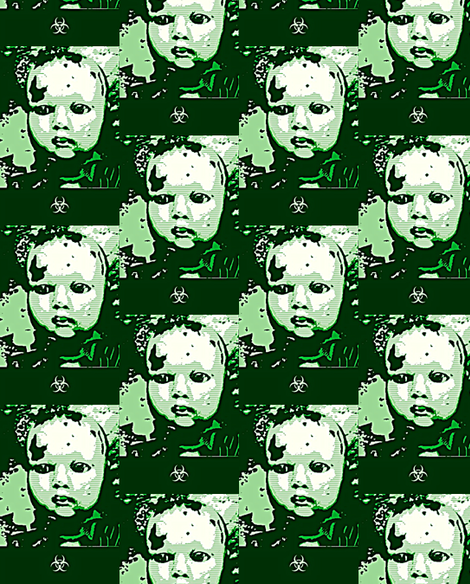 Angry Baby-ed fabric by luckygirl_eleven on Spoonflower - custom fabric