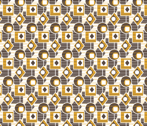 Catching The Light - Retro Kitchen Gold fabric by inscribed_here on Spoonflower - custom fabric