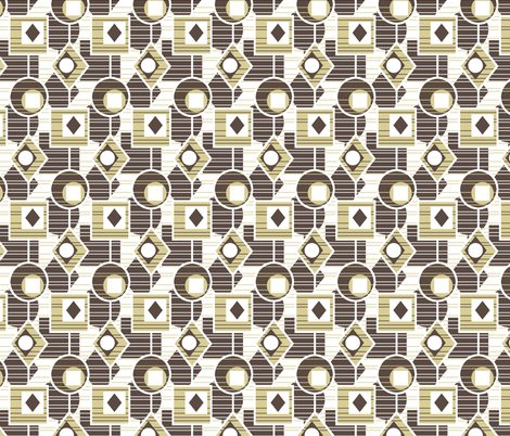Catching The Light - Retro Kitchen Natural fabric by inscribed_here on Spoonflower - custom fabric