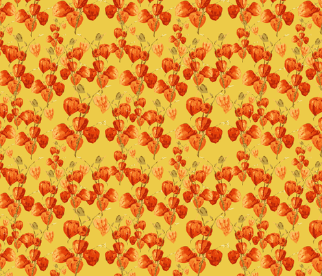 Chinese lanterns fabric by kociara on Spoonflower - custom fabric
