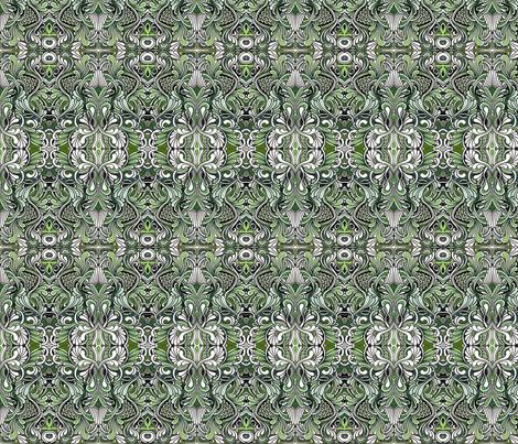 Tiny koi pond (mint/olive/white) fabric by edsel2084 on Spoonflower - custom fabric