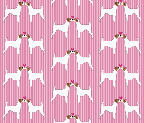 Kissing Terriers fabric by missyq on Spoonflower - custom fabric