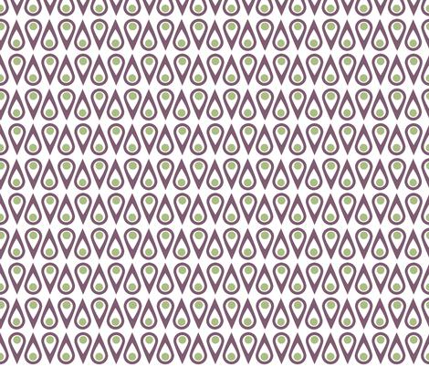 Mod Geometric Teardrops fabric by crowlands on Spoonflower - custom fabric