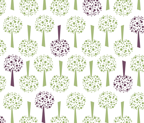 Occasional Mulberry Trees fabric by sew-me-a-garden on Spoonflower - custom fabric