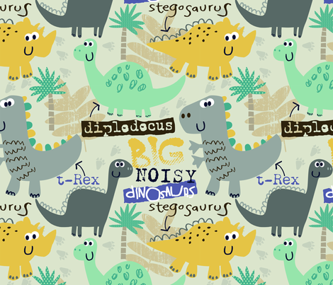 Roar! fabric by florrie_grace on Spoonflower - custom fabric