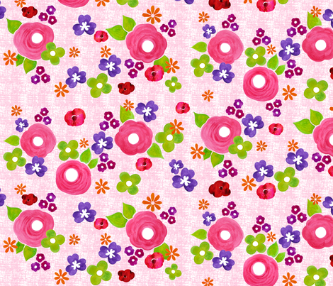 Rose garden fabric by valley_designs on Spoonflower - custom fabric