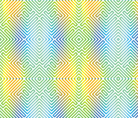 Rainbow Enigma 4 fabric by animotaxis on Spoonflower - custom fabric
