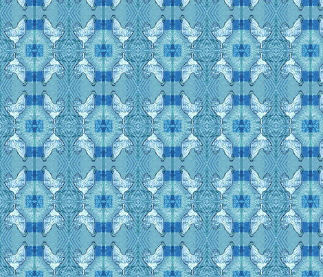Blue Rooster fabric by robin_rice on Spoonflower - custom fabric