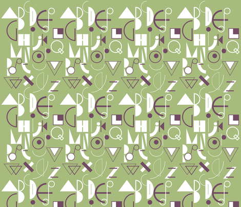 geometric abecedarian - lisaekström fabric by lisaekström on Spoonflower - custom fabric