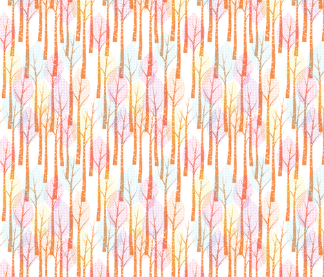 color spring trees fabric by jackie_haltom on Spoonflower - custom fabric