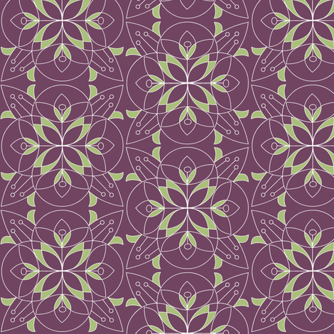 Geo flowers fabric by theboutiquestudio on Spoonflower - custom fabric