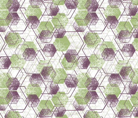 a million hexagons fabric by meduzy on Spoonflower - custom fabric