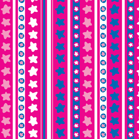 StarStripes fabric by ghennah on Spoonflower - custom fabric