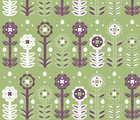 Geo Florals - © Lucinda Wei fabric by lucindawei on Spoonflower - custom fabric