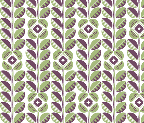 Simple mint floral fabric by cjldesigns on Spoonflower - custom fabric
