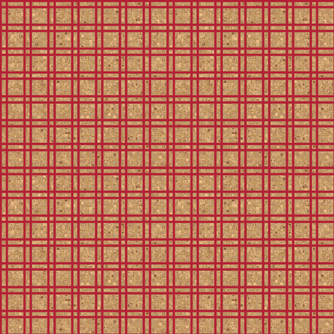 Geranium Reds Grid © Gingezel™ 2012 fabric by gingezel on Spoonflower - custom fabric