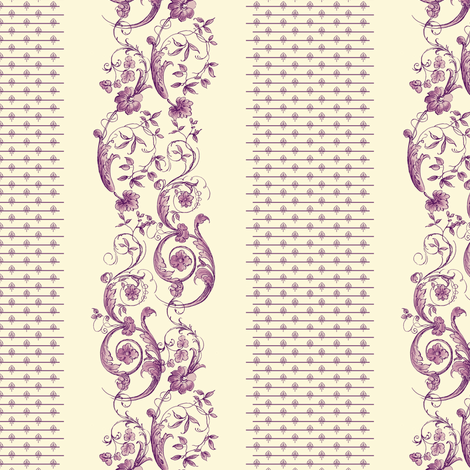 Wildfell Toile fabric by peacoquettedesigns on Spoonflower - custom fabric