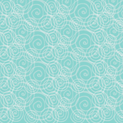 White on Aqua Swirls