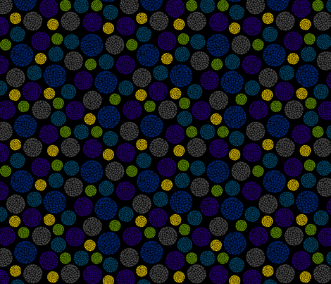 Crackle Dots Black