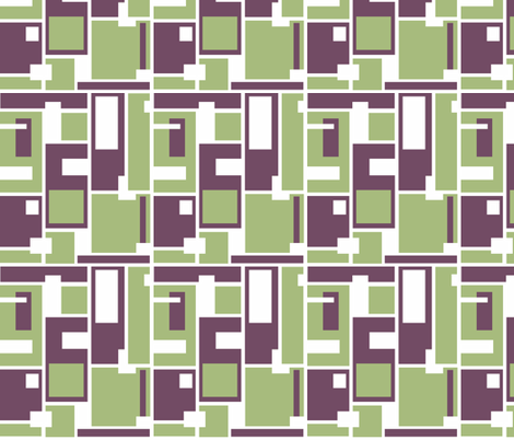 Geo Grid fabric by holly_helgeson on Spoonflower - custom fabric