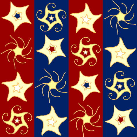 Embroidered_Swirling_and_Twilling_Stars_on_Stripes