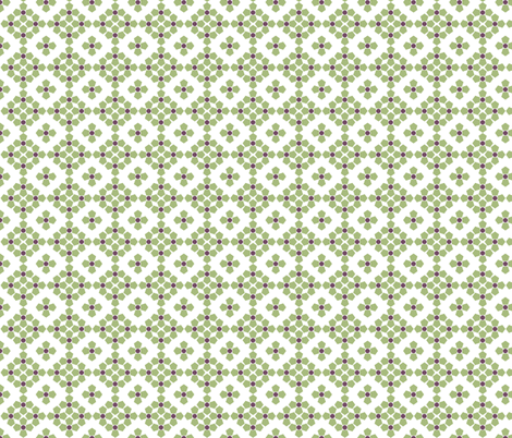Green with Lavender fabric by beebumble on Spoonflower - custom fabric