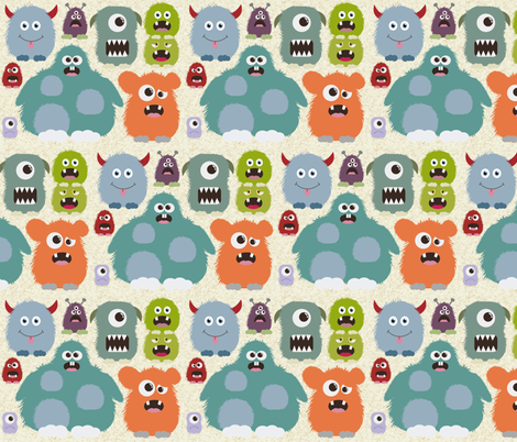 Just Monsters fabric by dogsndubs on Spoonflower - custom fabric
