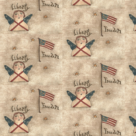 liberty_freedom_fabric_final fabric by robin006 on Spoonflower - custom fabric