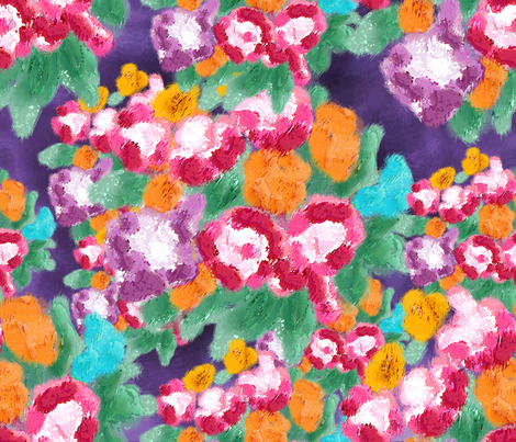 Among_peonies fabric by cassiopee on Spoonflower - custom fabric